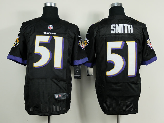 NFL Customize Baltimore Ravens 51 Musa Smith Black 2014 Nike Elite Jerseys