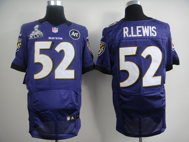 Baltimore Ravens 52 Ray Lewis Purple ART Patch 2014 Nike Elite Jerseys