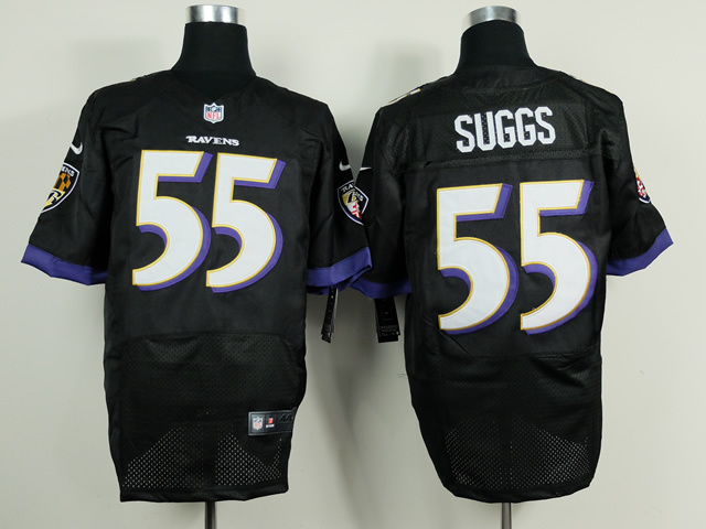 Baltimore Ravens 55 Terrell Suggs Black 2014 Nike Elite Jerseys