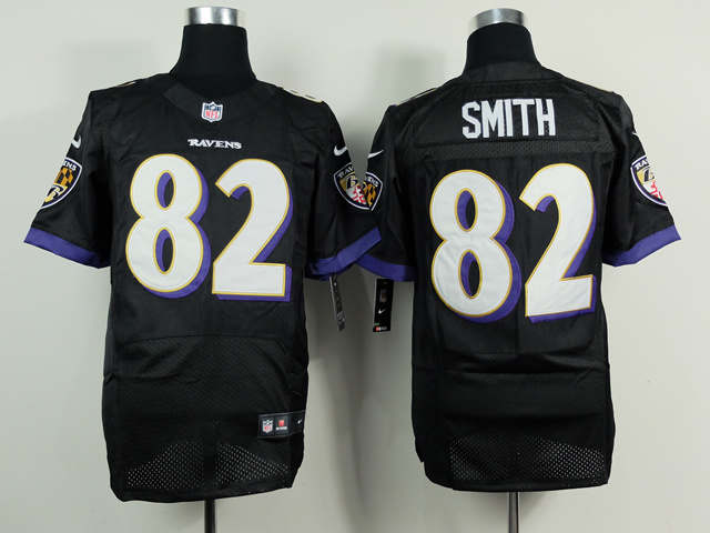 Baltimore Ravens 82 Smith Black 2014 Nike Elite Jerseys