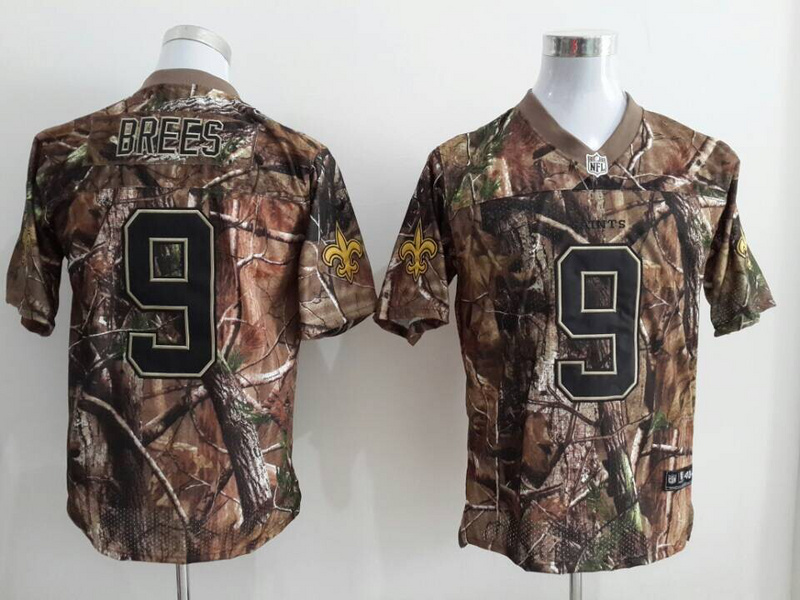 New Orleans Saints 9 Drew Brees Camo 2014 Jerseys