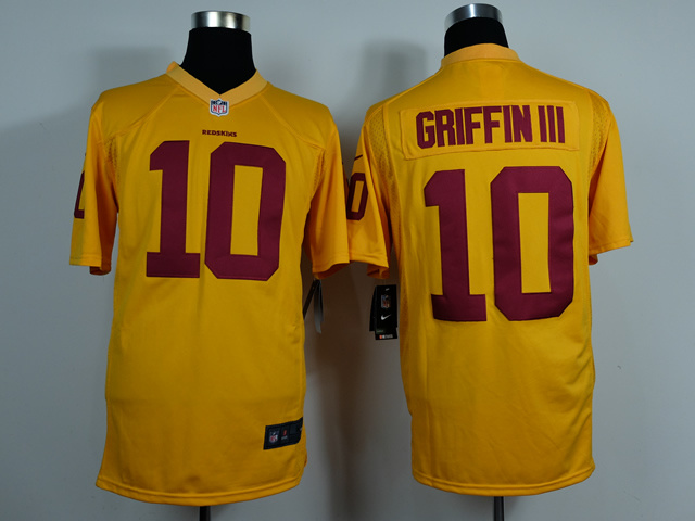 Washington Redskins 10 Robert Griffin III Gold Game 2014 Jerseys