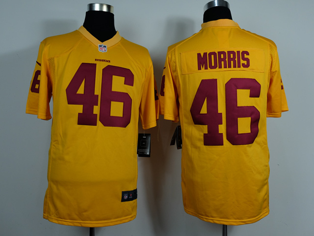 Washington Redskins 46 Alfred Morris Gold Game 2014 Jerseys