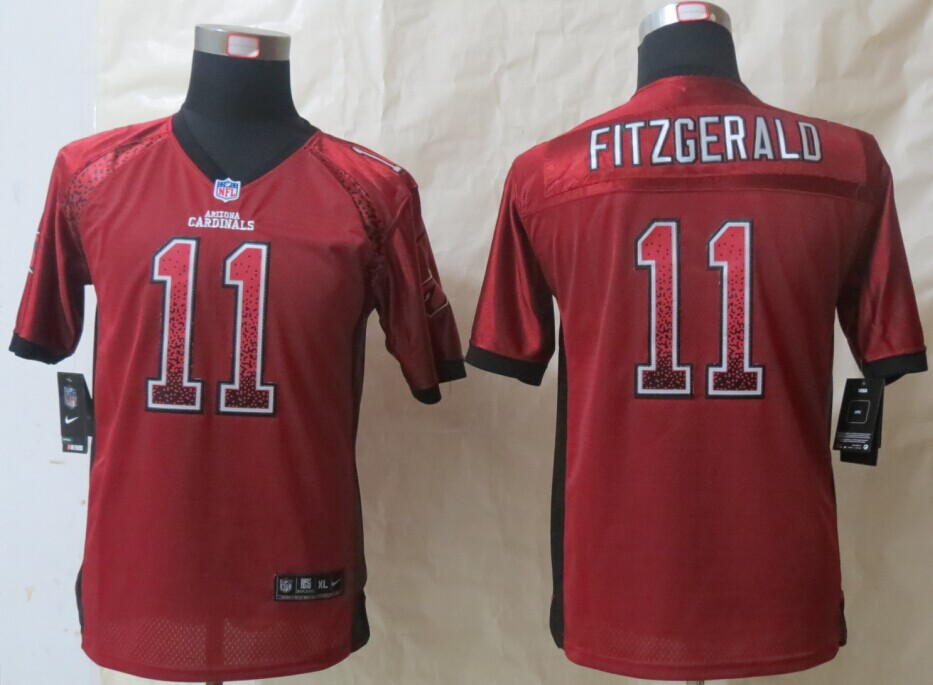 Youth Arizona Cardicals 11 Fitzgerald Drift Fashion Red 2014 New Nike Elite Jerseys