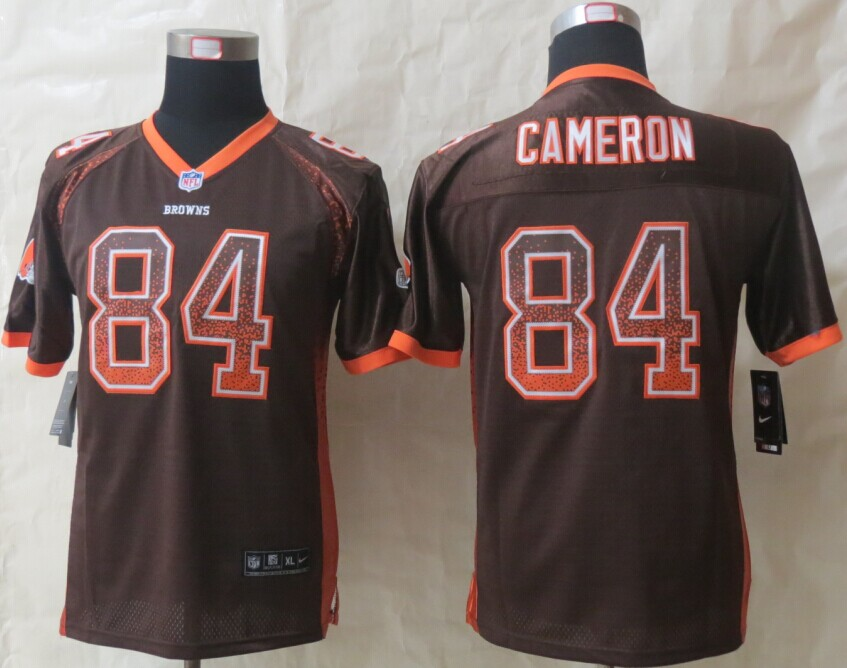 Youth Cleveland Browns 84 Cameron Drift Fashion Brown 2014 New Nike Elite Jerseys