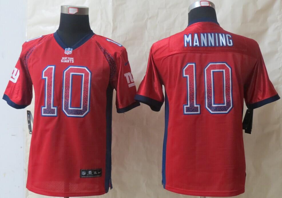 Youth New York Giants 10 Manning Drift Fashion Red 2014 New Nike Elite Jerseys