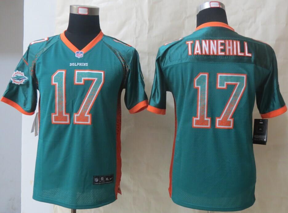 Youth Miami Dolphins 17 Tannehill Drift Fashion Green 2014 New Nike Elite Jerseys