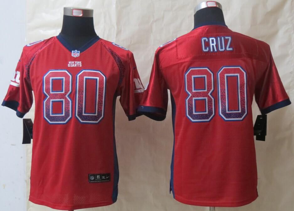 Youth New York Giants 80 Cruz Drift Fashion Red 2014 New Nike Elite Jerseys