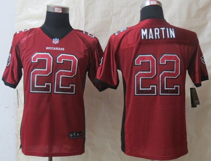 Youth Tampa Bay Buccaneers 22 Martin Drift Fashion Red 2014 New Nike Elite Jerseys