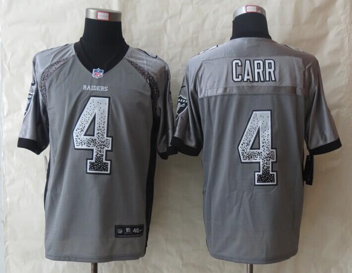 Okaland Raiders 4 Carr Drift Fashion Grey 2014 New Nike Elite Jerseys
