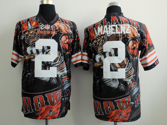 Cleveland Browns 2 maielnz black NFL Nike fanatical version Jersey