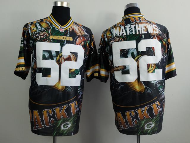 Green Bay Packers 52 matthews black NFL Nike fanatical version Jersey