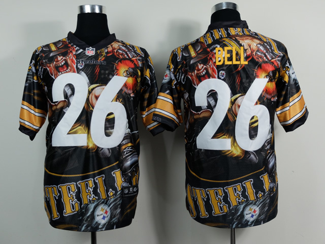 Pittsburgh Steelers 26 bell black NFL Nike fanatical version Jersey