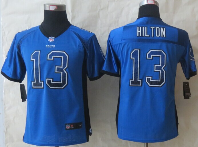 Youth Indianapolis Colts 13 Hilton Drift Fashion Blue 2014 New Nike Elite Jerseys