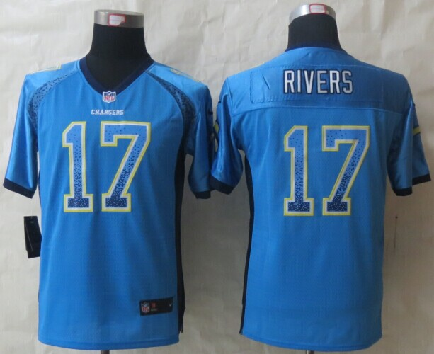 Youth San Diego Charger 17 Rivers Drift Fashion Blue 2014 New Nike Elite Jerseys