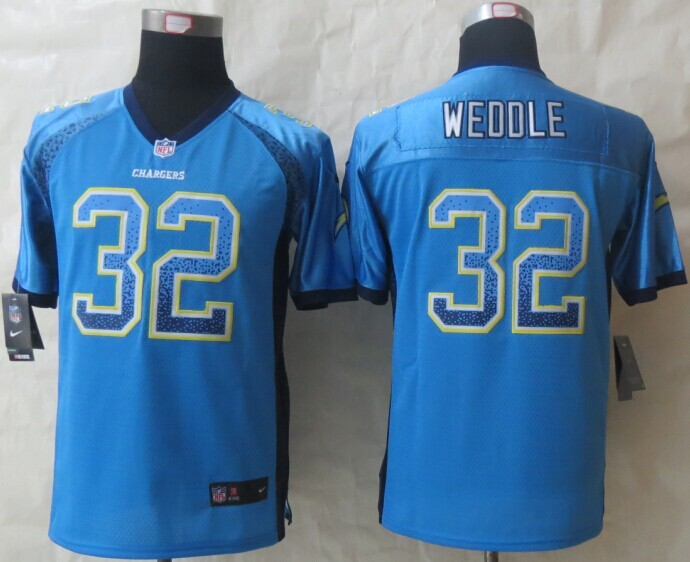 Youth San Diego Charger 32 Weddle Drift Fashion Blue 2014 New Nike Elite Jerseys
