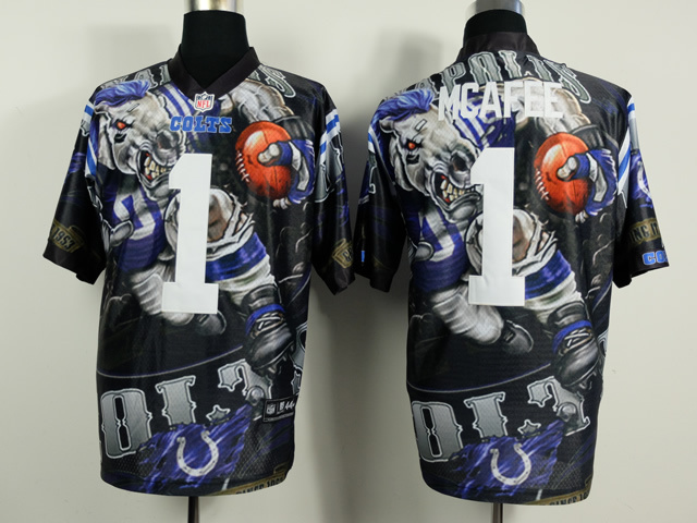 Indianapolis Colts 1 Pat McAfee Black NFL Nike fanatical version Jersey