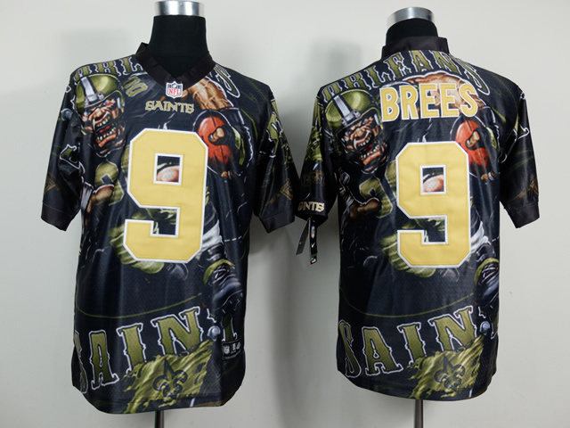 New Orleans Saints 9 Brees NFL Nike fanatical version Jersey