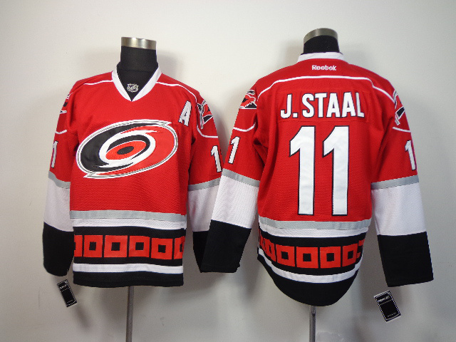 NHL Carolina Hurricanes 11 J.staal red 2014 Jerseys
