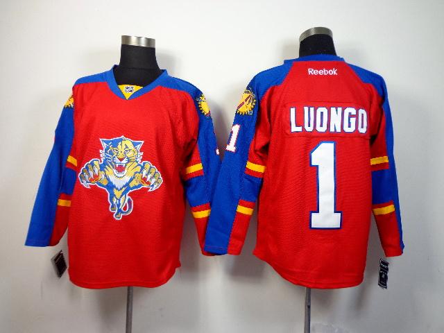 NHL Florida Panthers 1 luongo red 2014 Jerseys