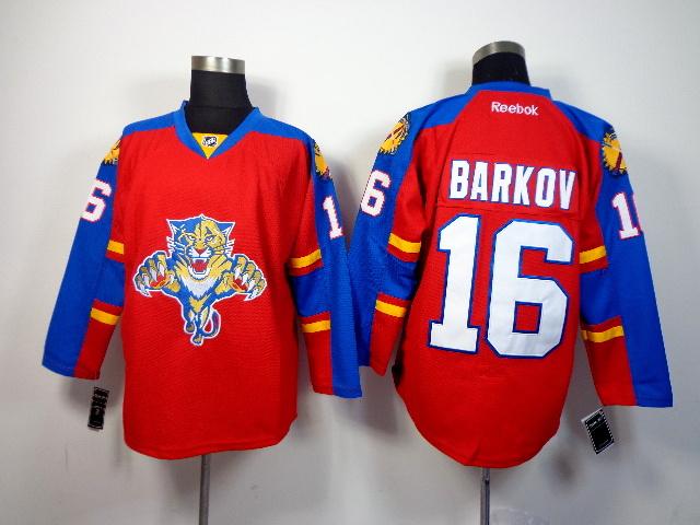 NHL Florida Panthers 16 barkov red 2014 Jerseys