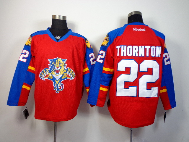NHL Florida Panthers 22 Thornton red 2014 Jerseys