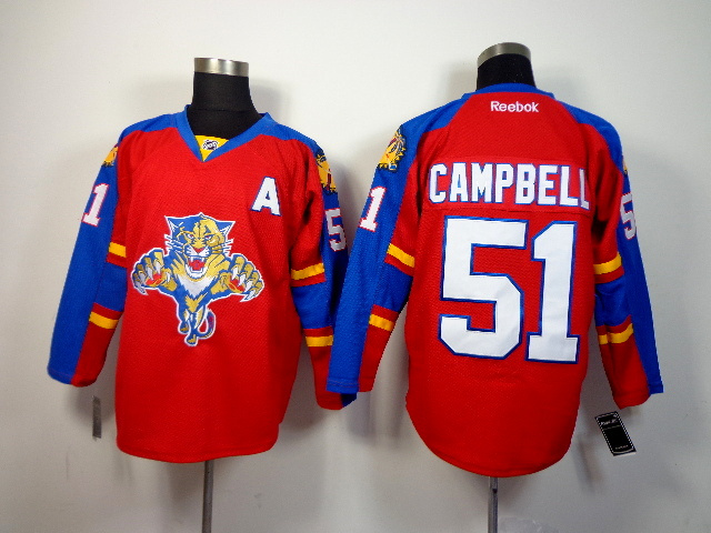 NHL Florida Panthers 51 Campbell red 2014 Jerseys