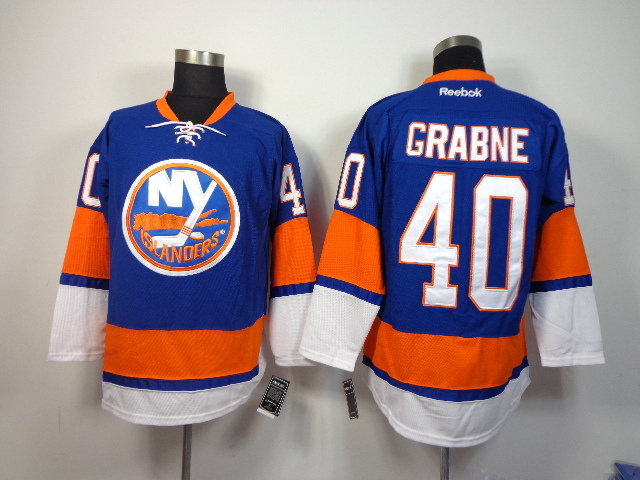 NHL New York Islanders 40 grabne blue 2014 Jerseys