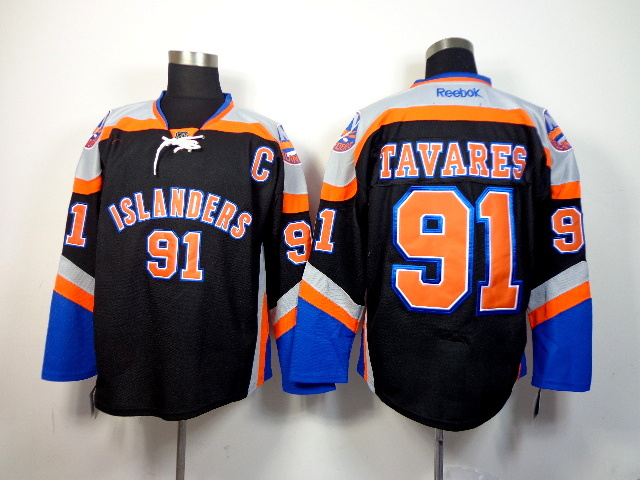 NHL New York Islanders 91 tavares black 2014 Jerseys