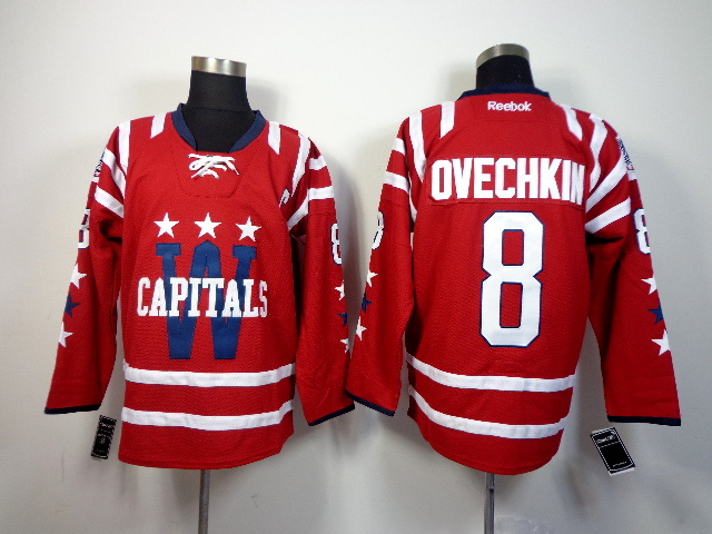 NHL Washington Capitals 8 ovechkin red 2014 Jerseys