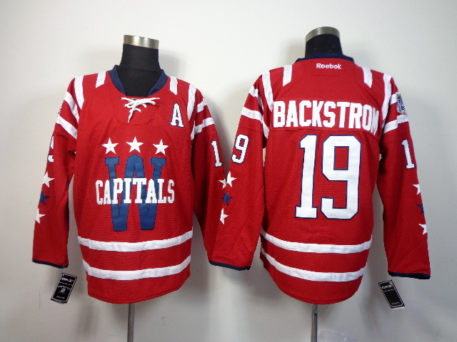 NHL Washington Capitals 19 backstron red 2014 Jerseys