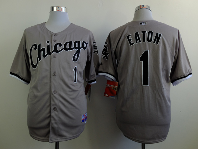 MLB Chicago White Sox 1 Adam Eaton Gray 2014 Jerseys