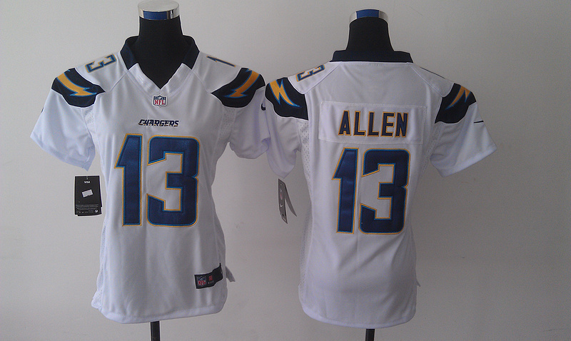 Womens Los Angeles Chargers 13 Keenan Allen White Nike 2014 Jerseys