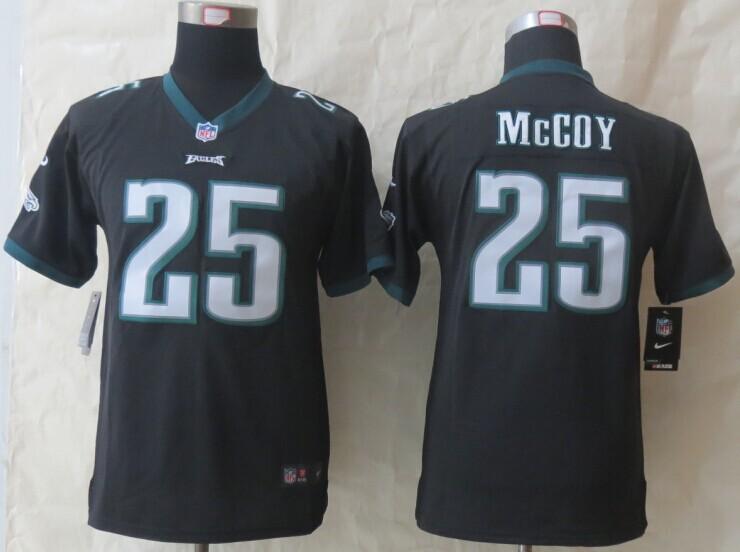 Youth Philadelphia Eagles 25 McCoy Black New Nike Limited Jerseys
