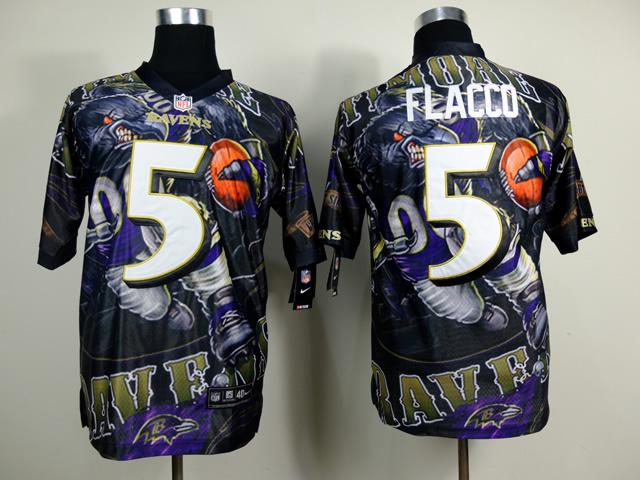 Baltimore Ravens 5 Joe Flacco NFL Nike fanatical version Jersey