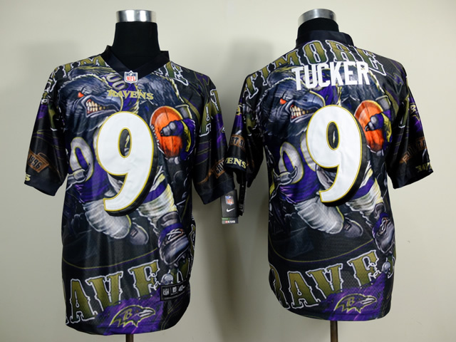 Baltimore Ravens 9 Justin Tucker NFL Nike fanatical version Jersey