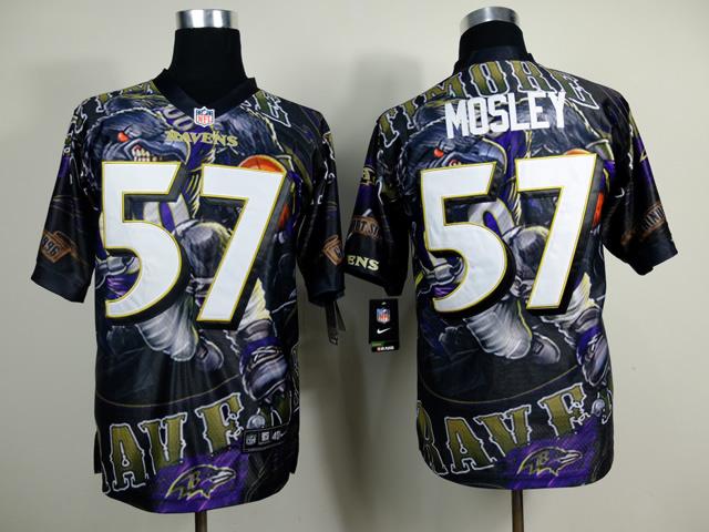 Baltimore Ravens 57 C.J. Mosley NFL Nike fanatical version Jersey