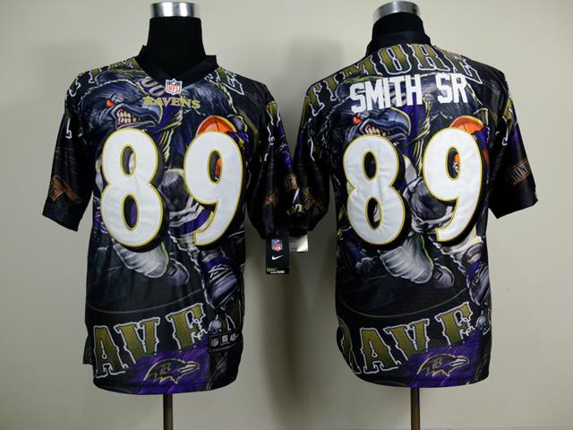 Baltimore Ravens 89 Steve Smith Sr NFL Nike fanatical version Jersey