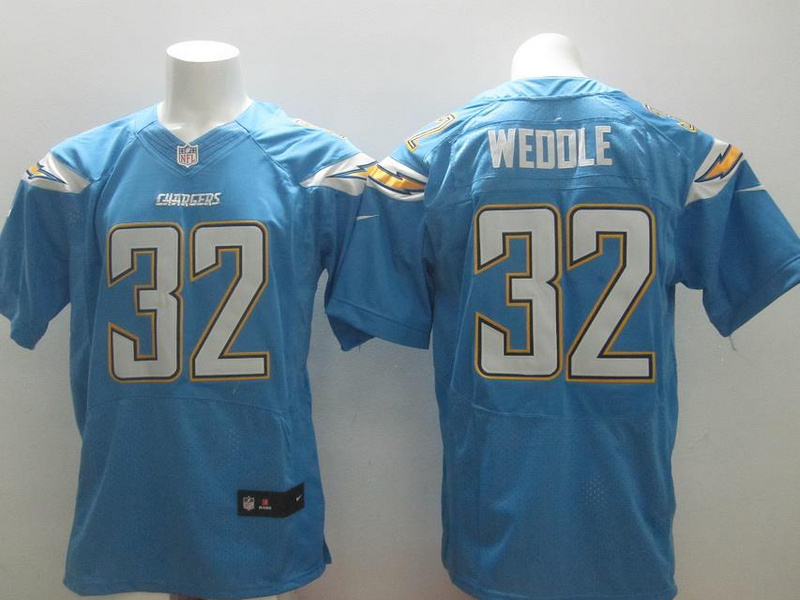 San Diego Chargers 32 Eric Weddle Light Blue 2014 New Nike Elite Jerseys