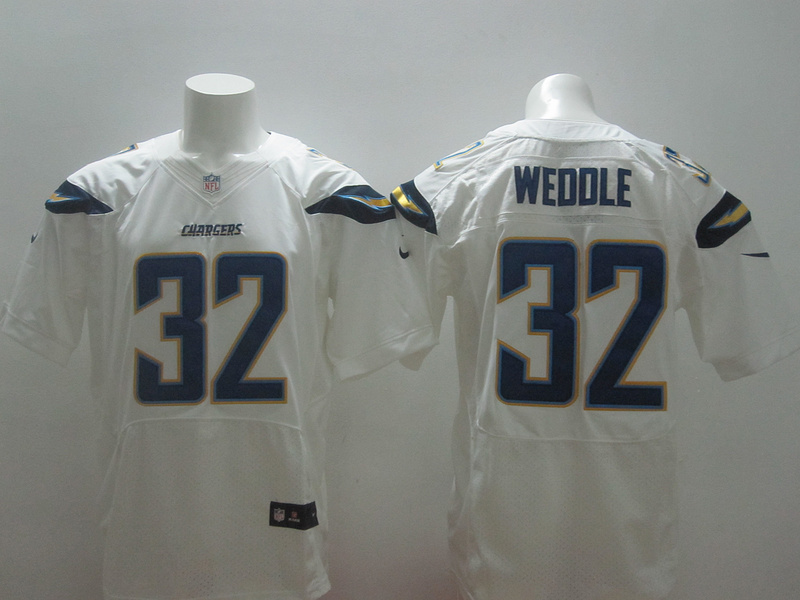 San Diego Chargers 32 Eric Weddle White 2014 New Nike Elite Jerseys
