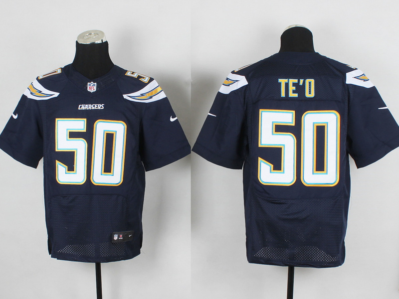 San Diego Chargers 50 Manti Te'o Blue 2014 New Nike Elite Jerseys