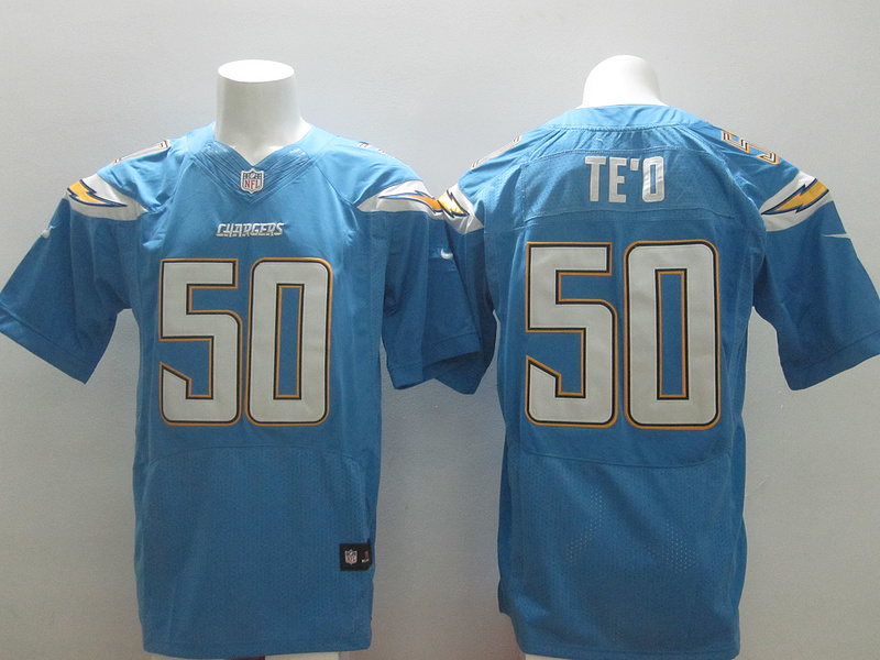 San Diego Chargers 50 Manti Te'o Light Blue 2014 New Nike Elite Jerseys