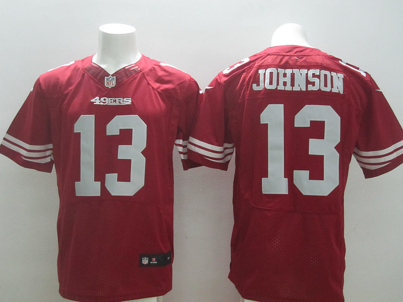 San Francisco 49ers 13 Johnson red 2014 New Nike Elite Jerseys