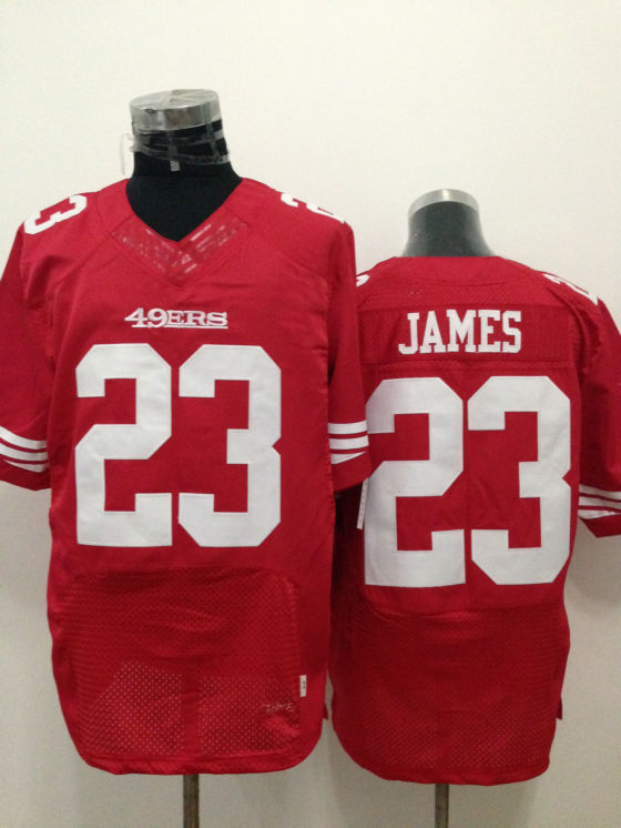 San Francisco 49ers 23 LaMichael James Red 2014 New Nike Elite Jerseys