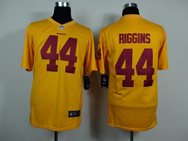 Washington Redskins 44 John Riggins Gold Game Nike 2014 Jerseys