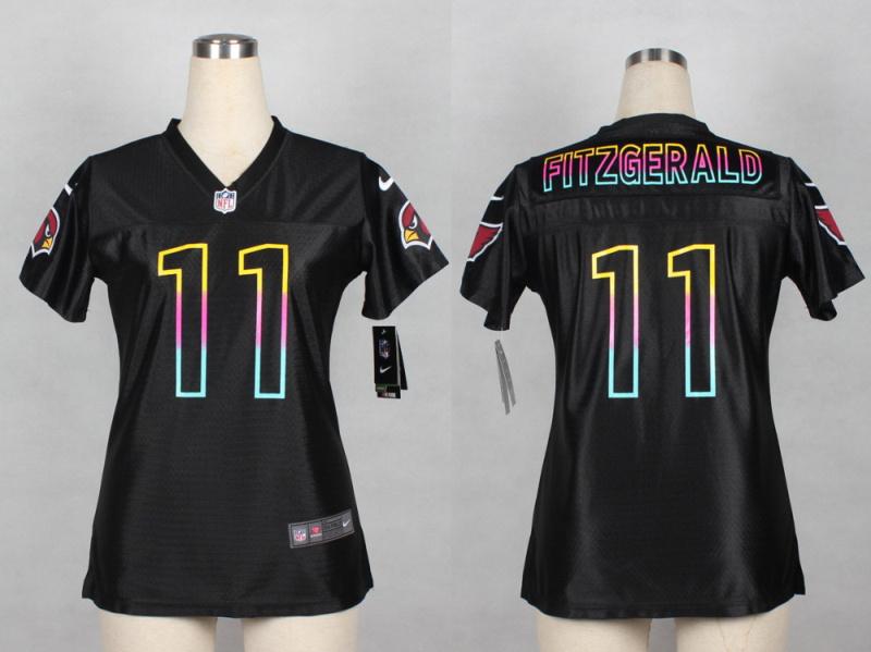 Womens Arizona Cardicals 11 Larry Fitzgerald 2014 Black Fashion Nike Jerseys