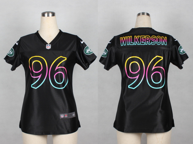 Womens New York Jets 96 Wilkerson 2014 Black Fashion Nike Jerseys