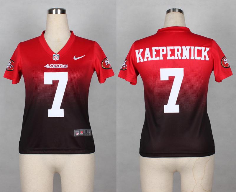 Womens San Francisco 49ers 7 Colin Kaepernick red brown 2014 Nlike Drift Fashion II Elite Jerseys