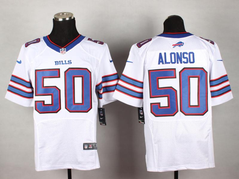 Buffalo Bills 50 Alonso White 2014 New Nike Elite Jerseys