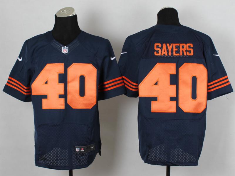 Chicago Bears 40 Sayers Blue Orange 2014 New Nike Elite Jerseys